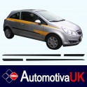 Vauxhall Corsa D 3 Door Side Protection Mouldings