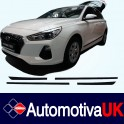 Hyundai i30 Mk3 5 Door Side Protection Mouldings