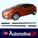 KIA Pro Cee'd Mk2 3 Door Side Protection Mouldings