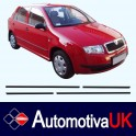 Skoda Fabia Mk1 Door Side Protection Mouldings